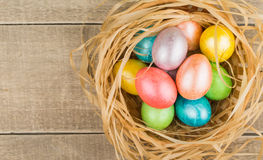 Easter eggs. Painted in different colors for Easter Stock Photo