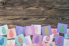 Easter Eggs Painted on Paper Stock Image