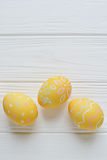 Easter eggs painted in pastel colors Royalty Free Stock Photo