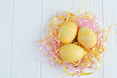 Easter eggs painted in pastel colors Royalty Free Stock Photos