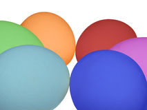 Easter Eggs. Painted in rainbow colors Royalty Free Stock Image