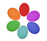 Easter Eggs. Painted in rainbow colors Royalty Free Stock Photos