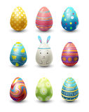 Easter eggs painted with spring pattern vector illustration. Royalty Free Stock Image