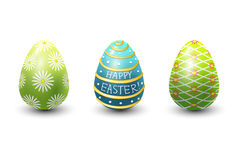 Easter eggs painted with spring pattern vector illustration. Stock Image