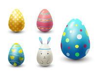 Easter eggs painted with spring pattern vector illustration. Royalty Free Stock Images