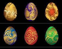 Easter eggs painted. Vector illustration Royalty Free Stock Photo
