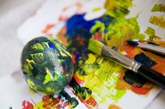Easter eggs painting Stock Photo