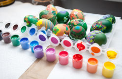 Easter eggs painting Royalty Free Stock Photography