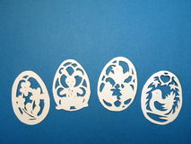 Easter eggs. Paper cutting. Stock Photos
