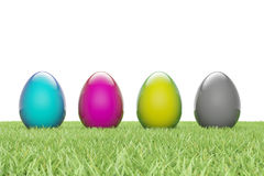 Easter Eggs parade cmyk Stock Images