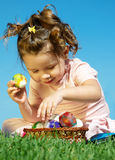 Easter eggs in the park Stock Photography