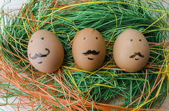 Easter eggs, Paschal eggs Stock Images