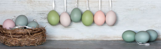 Easter eggs in pastel royalty free stock images