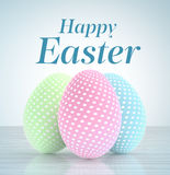 Easter eggs with pastel colors Stock Images