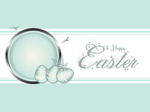 Easter eggs pastel green border Stock Image