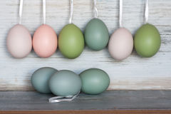 Easter eggs in pastel Stock Photo