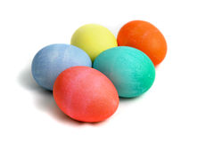 Easter Eggs With Path Stock Photo