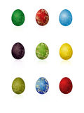 Easter eggs with pattern Royalty Free Stock Photography