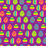 Easter eggs pattern Royalty Free Stock Image