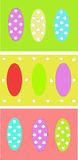 Easter eggs pattern Royalty Free Stock Photos