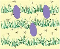 Easter eggs pattern Stock Image
