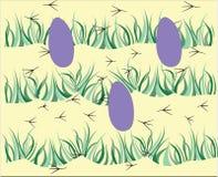 Easter eggs pattern stock image
