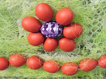 Easter Eggs pattern Royalty Free Stock Images