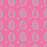 Easter eggs pattern Stock Photos