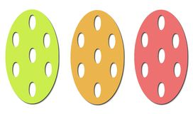 Easter eggs pattern stock images