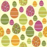 Easter eggs pattern. Easter eggs vector seamles pattern Stock Image