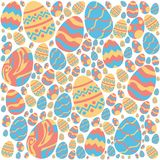 Easter eggs pattern on white background royalty free illustration