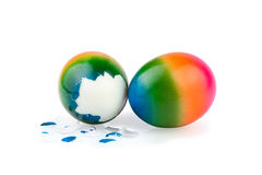Easter Eggs Peeled Stock Images