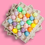 Easter eggs on pink Stock Image
