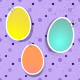 Easter eggs on pins Stock Image