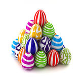 Easter eggs  piramid Stock Photography