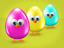 Easter eggs with place for text Royalty Free Stock Photography