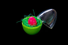 Easter eggs plastic and colorful Royalty Free Stock Photo