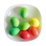 Easter eggs on plate Stock Photography