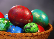 Easter Eggs. In a plate handmade Royalty Free Stock Image