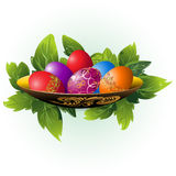Easter eggs on a plate Royalty Free Stock Photography
