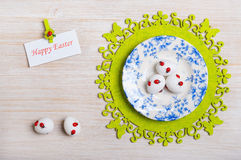 Easter eggs on a plate Royalty Free Stock Photo