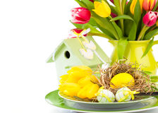 Easter eggs in a plate, Stock Photography
