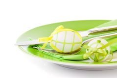 Easter eggs in a plate Stock Photography