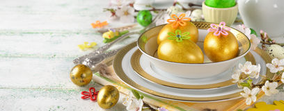 Easter eggs on a plate Stock Images