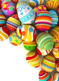 Easter eggs with plenty of copy-space for text Royalty Free Stock Photo