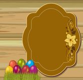 Easter eggs. Postcard with beautiful Easter eggs Royalty Free Stock Images
