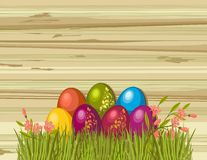 Easter eggs. Postcard with beautiful Easter eggs Royalty Free Stock Photo