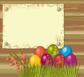 Easter eggs. Postcard with beautiful Easter eggs Stock Image