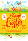 Easter eggs poster Stock Images