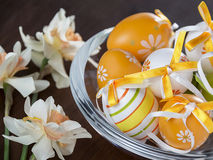 Easter eggs pot royalty free stock images
